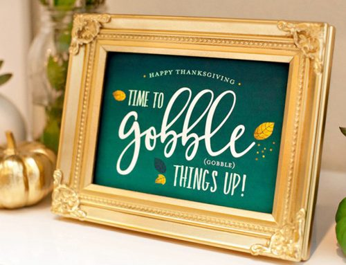 A Beautiful Green & Gold Thanksgiving