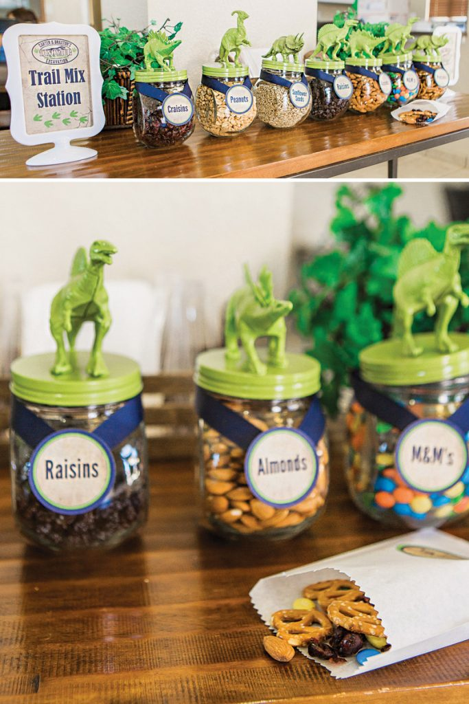 birthday party make your own trail mix station