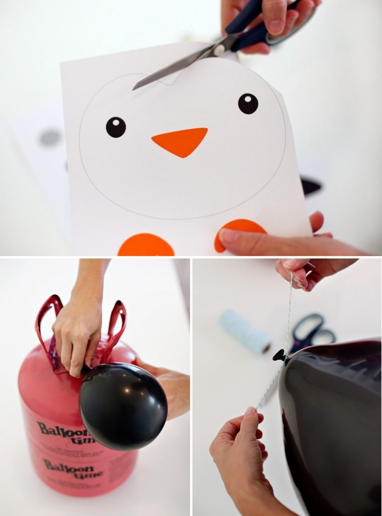 DIY Penguin Party Balloons - Printables