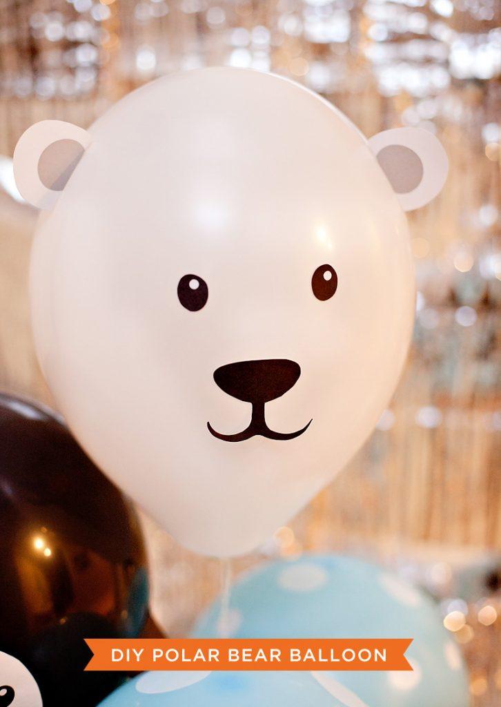 DIY Polar Bear Party Balloons
