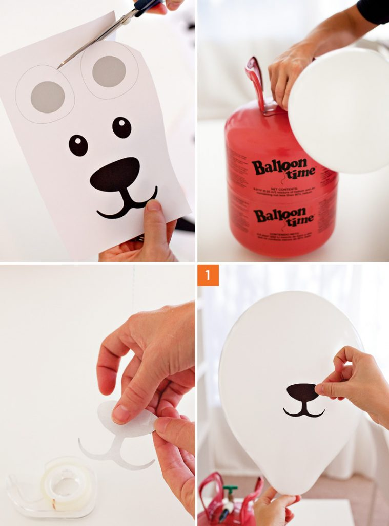 DIY Polar Bear Party Balloons - Printables