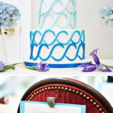 chemistry themed bridal shower cake