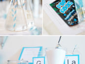 DIY bath salts buffet - bridal shower favors