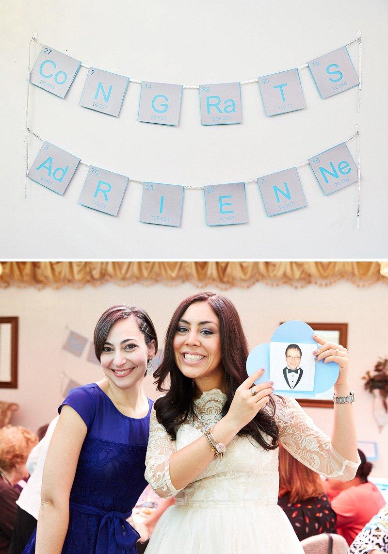 chemistry themed bridal shower banner