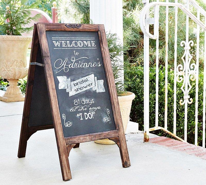chalkboard bridal shower sign