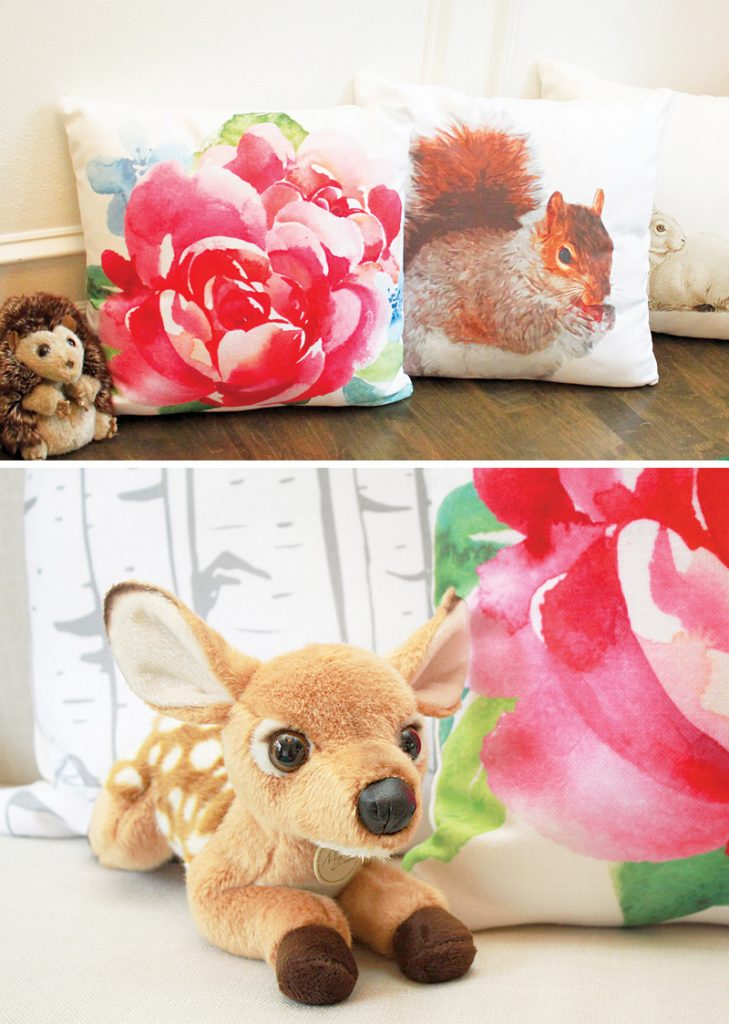 custom forest animal party pillows
