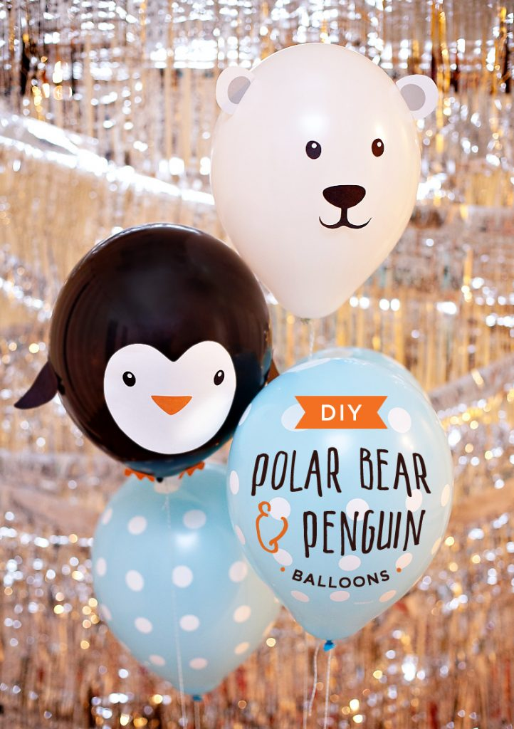 DIY Penguin Balloons and Polar Bear Balloons Tutorial