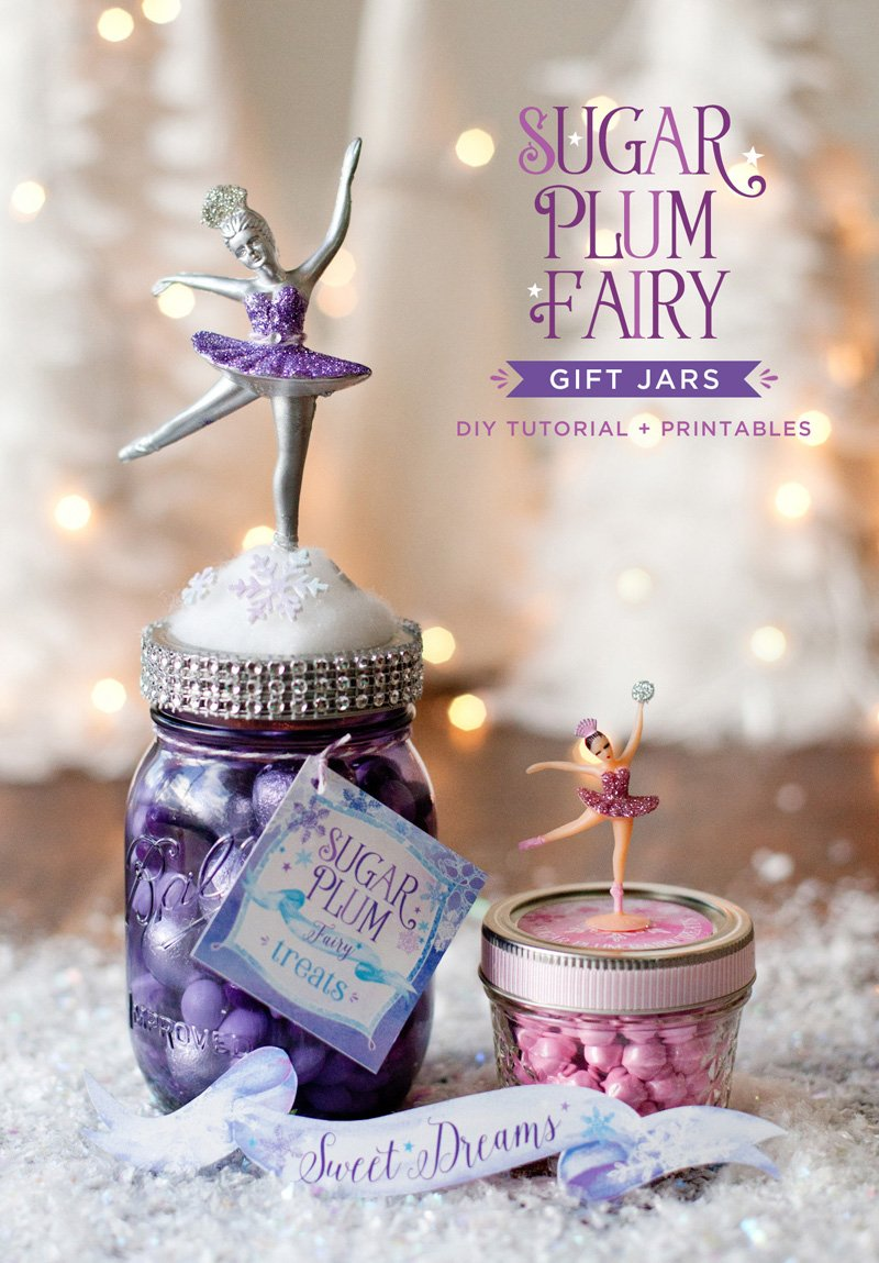 Homemade Holiday Gift Idea Sugar Plum Fairy Jars Hostess With The Mostess