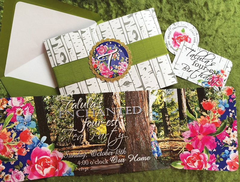 enchanted forest birthday party invitation