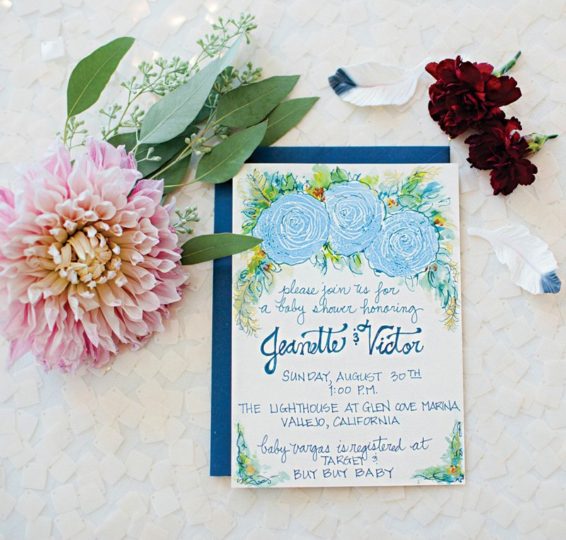 Floral Boy Shower Invitation