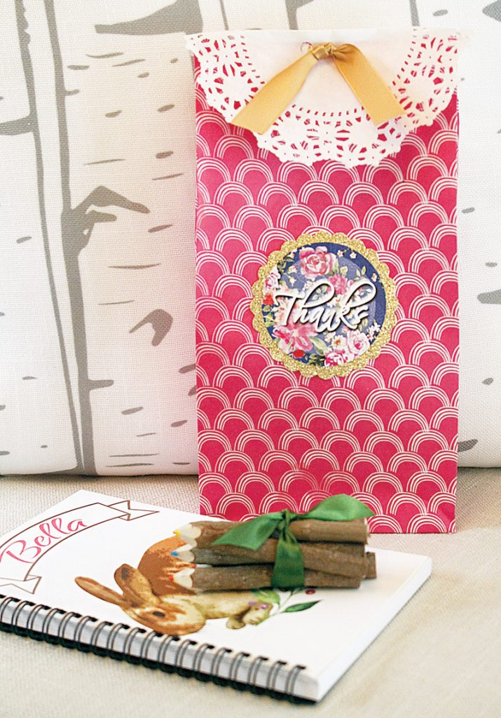 forest birthday party favors