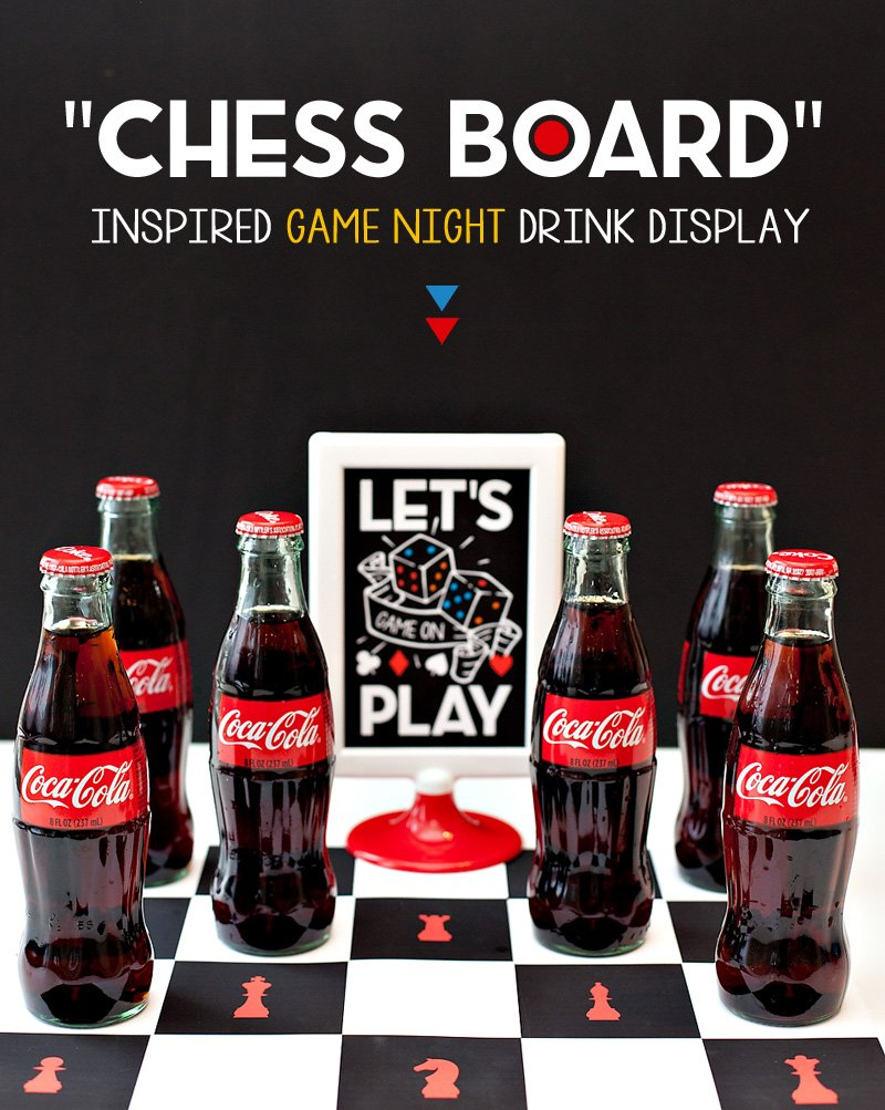 Game Night Drink Display - Chess Board Inspired