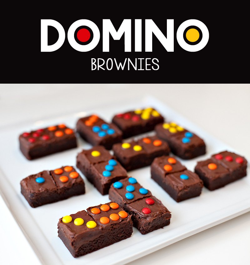 DIY Domino Brownies