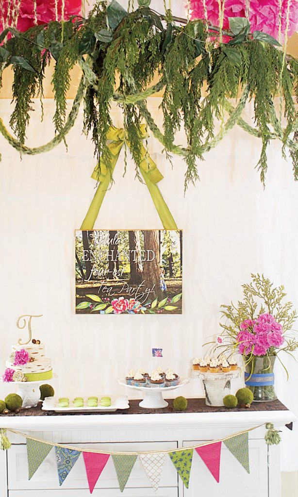 hanging plant party decor