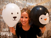 DIY Party Animal Balloons by Jennifer Sbranti