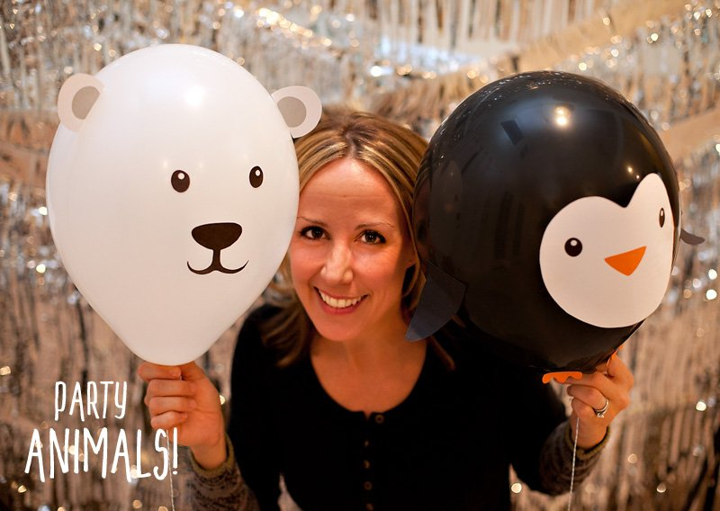 DIY Party Animal Balloons by Jennifer Sbranti