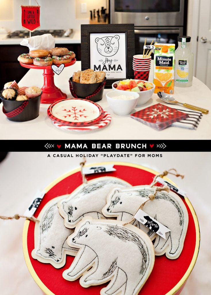 Mama Bear Holiday Brunch + Free Printables