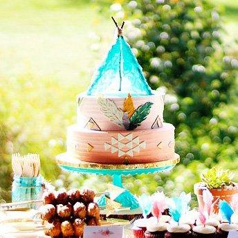 teepee inspired cake