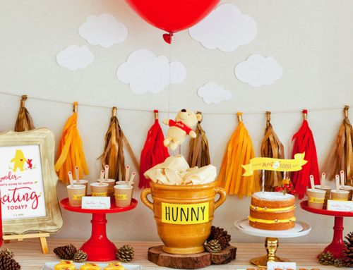 Classic + Modern Winnie the Pooh Baby Shower
