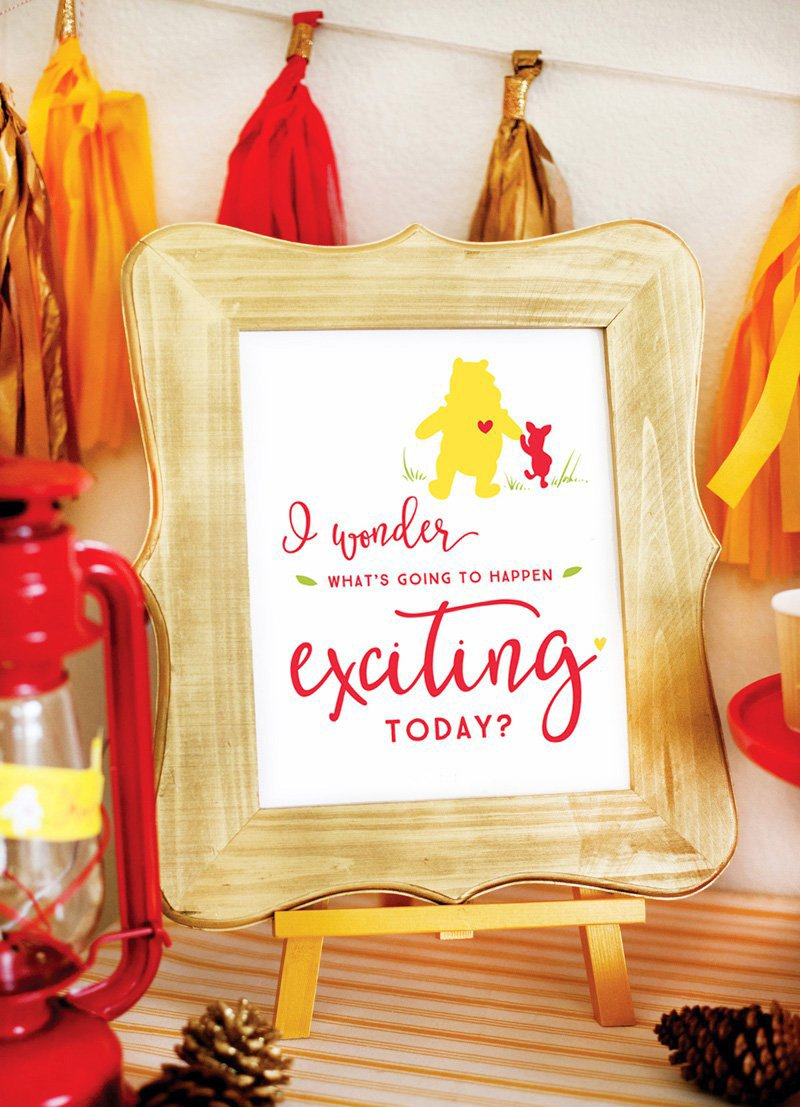 Classic Modern Winnie The Pooh Baby Shower Hostess