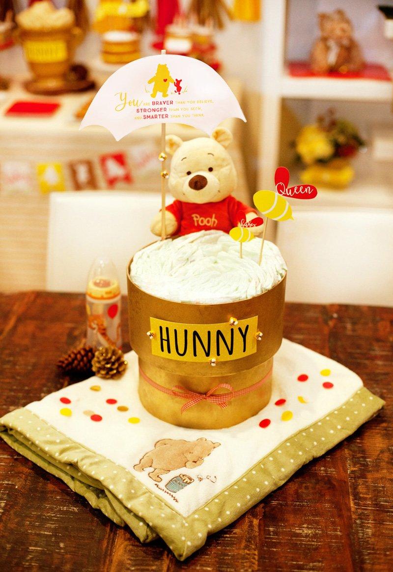 Modern Winnie the Pooh Diaper Cake (DIY)