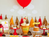 Winnie the Pooh Baby Shower Dessert Table from HWTM