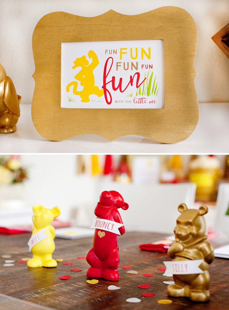 Winnie the Pooh Baby Shower Printables and DIY decorations by HWTM