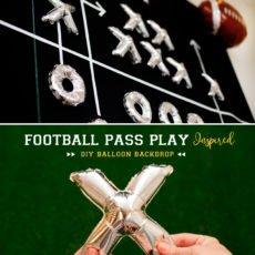 DIY Football Diagram Balloon Backdrop Tutorial