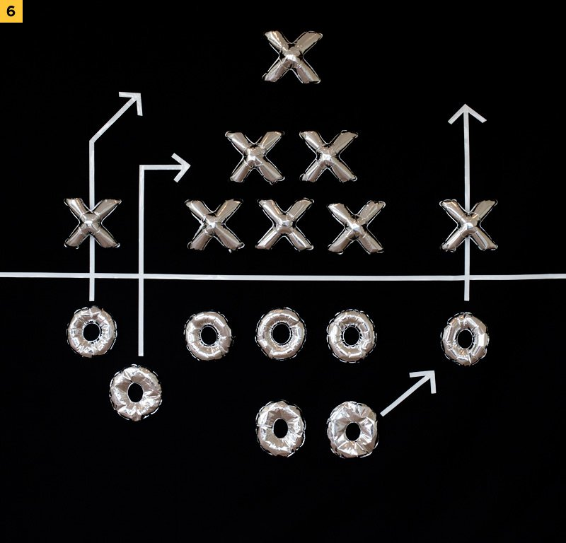 football play party backdrop - step 6