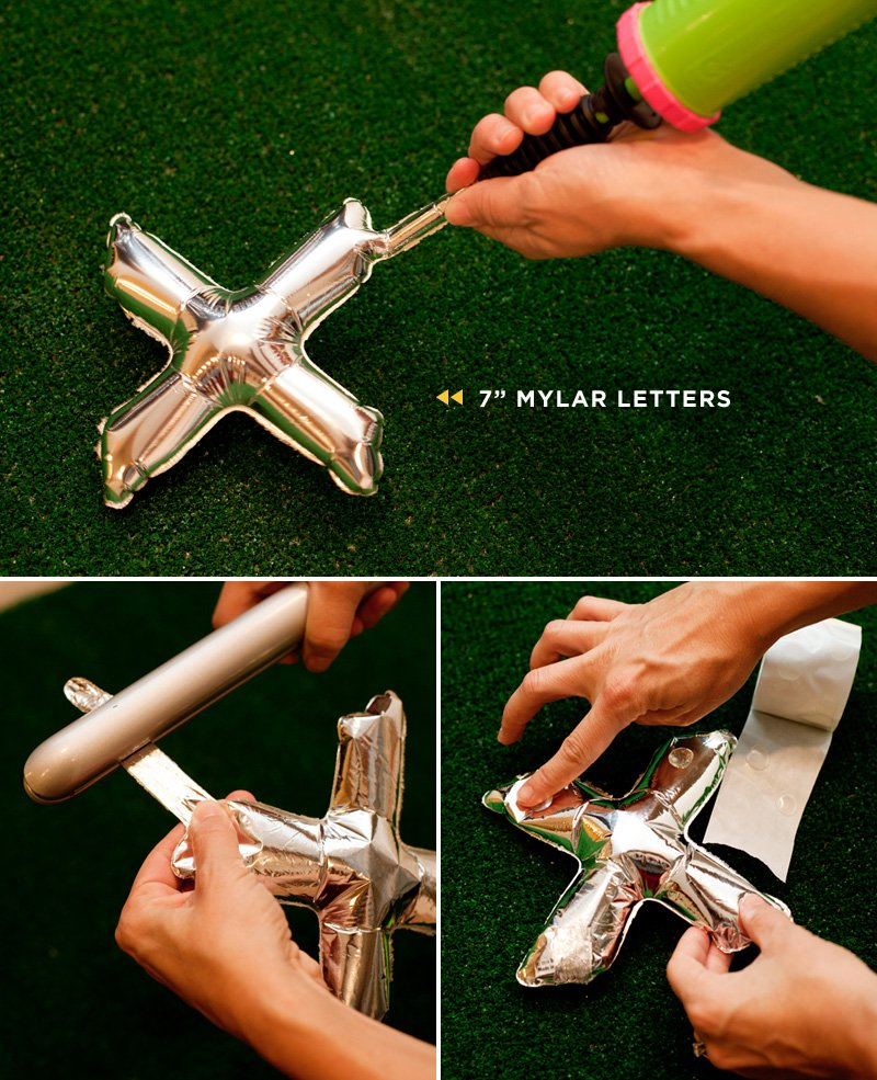"7"" mini mylar balloon letters - how to fill and heat seal"