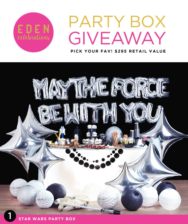 GIVEAWAY: Party Box by Eden Celebrations {$295 value!}