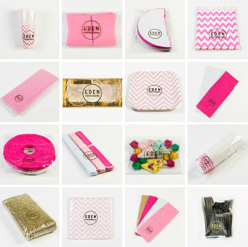 Pink Ombre Party in a Box - Eden Celebrations