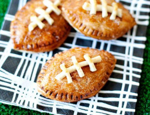 """{Game Day} Peanut Butter & Chocolate """"Pigskin"""" Pies"""