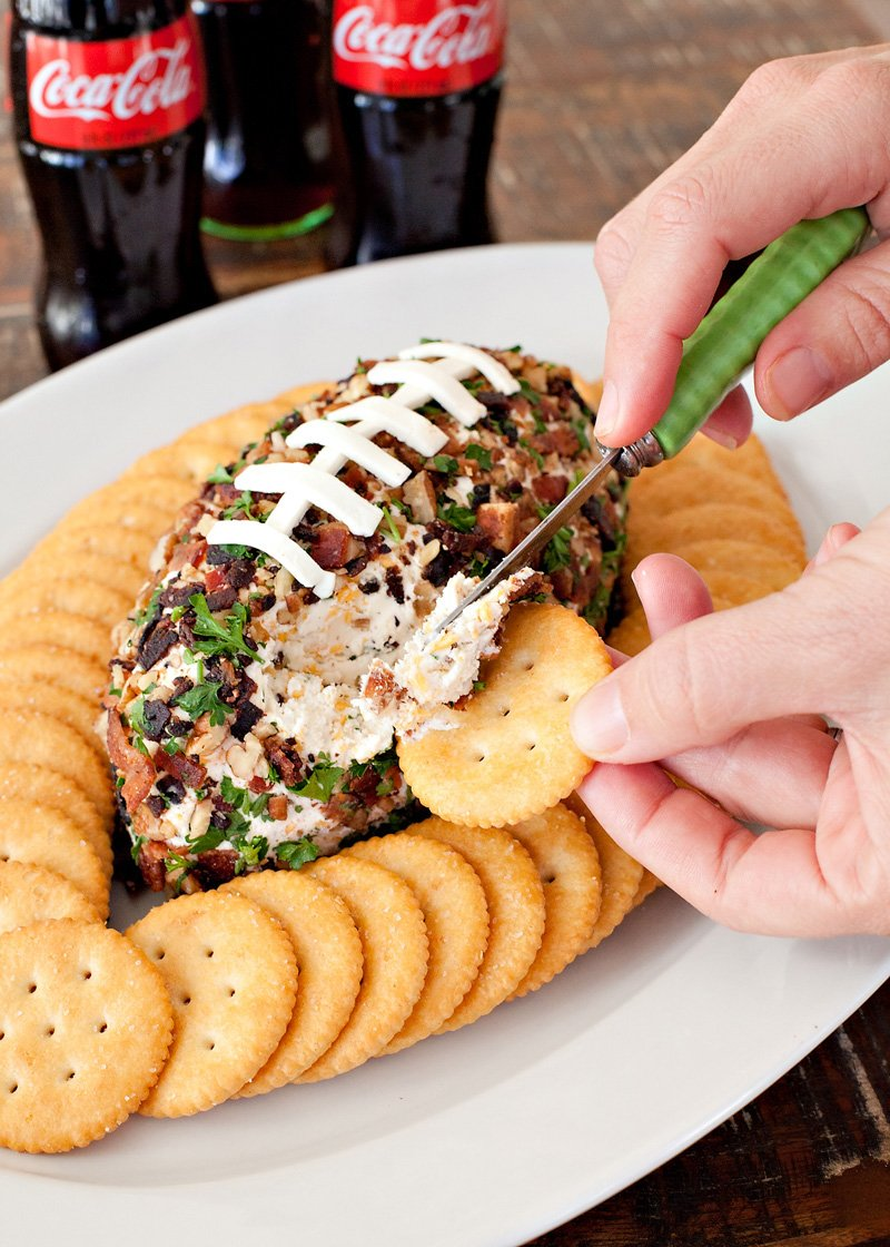 Bacon Ranch Cheddar Football Cheese Ball Recipe