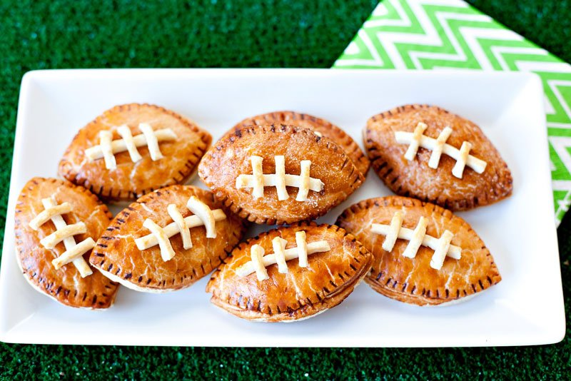 Football Shaped Pies - Peanut Butter and Chocolate Game Day Recipe