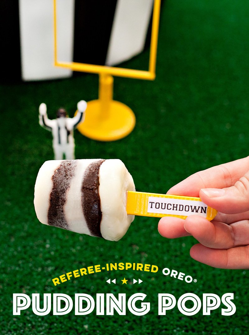 Football Referee-Inspired Pudding Pops | #HomeBowlHero