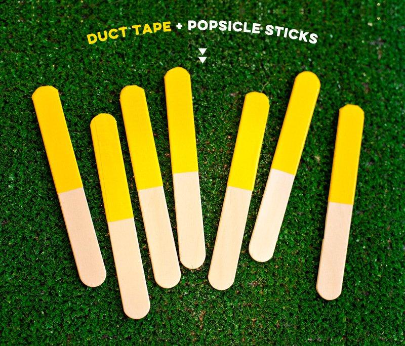 Football Penalty Flag Popsicle Sticks