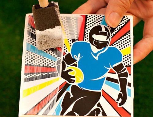 Football Pop Art Party Ideas + Baked Parmesan Zucchini Sticks