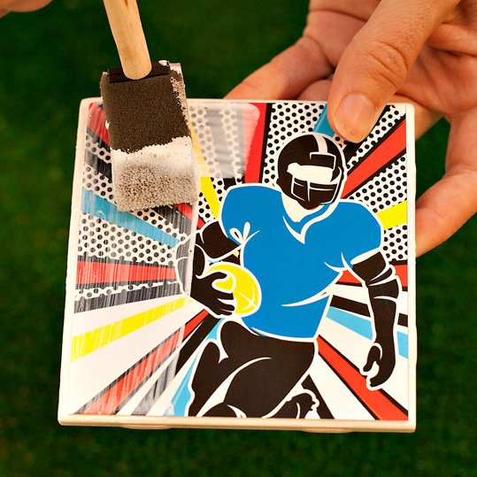 Football Pop Art Party Ideas + Baked Parmesan Zucchini Sticks