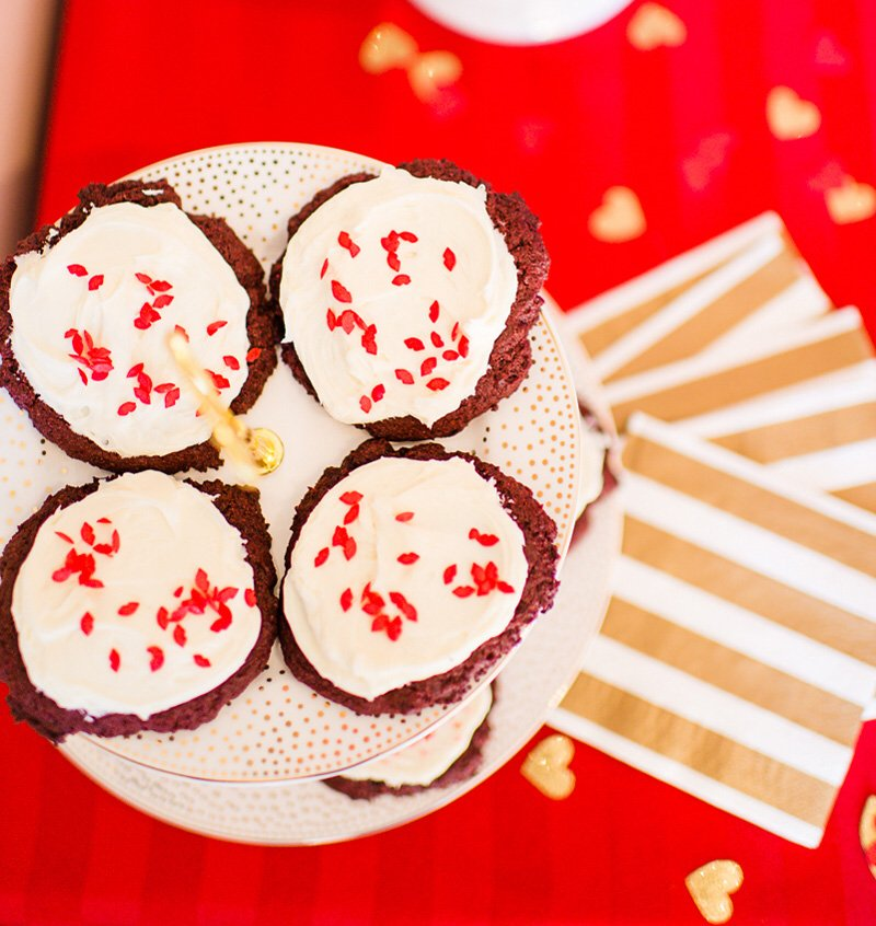 red and white valentine's day cookies