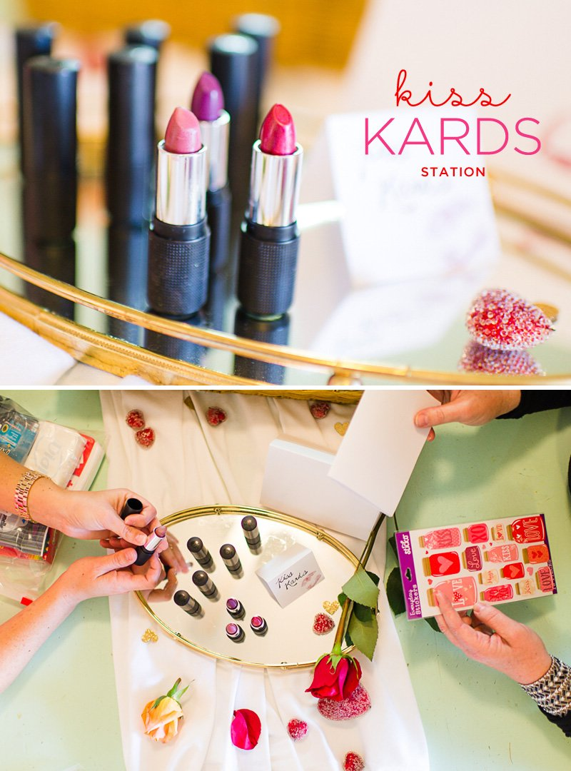 Kiss Kards Station - make your own sweetheart cards