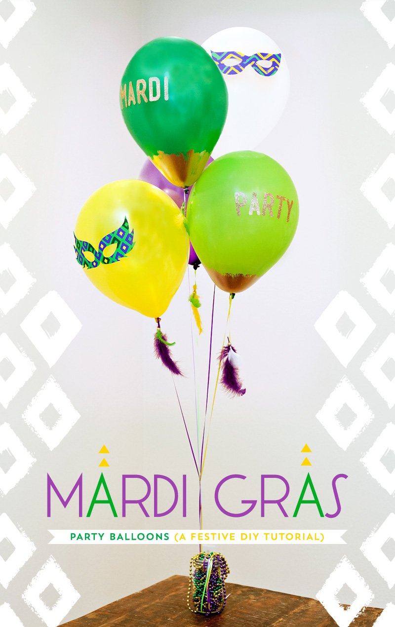 DIY Mardi Gras Balloon Decorations