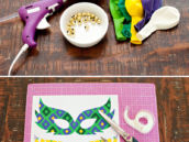 Materials for DIY Mardi Gras Balloons