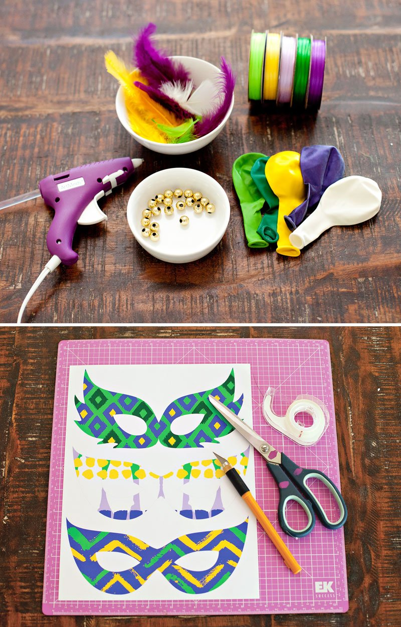 Festive Mardi Gras Party Balloons Diy Tutorial