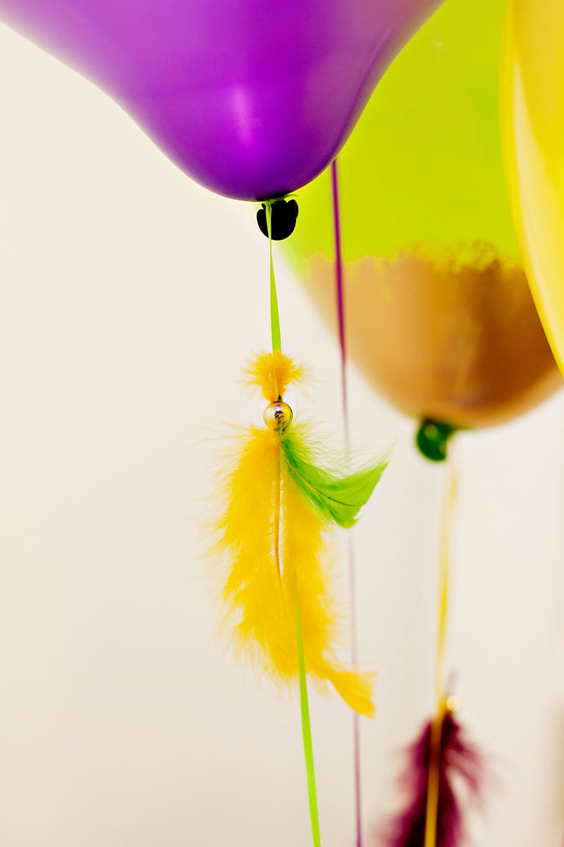 Balloons with Feather Tassels