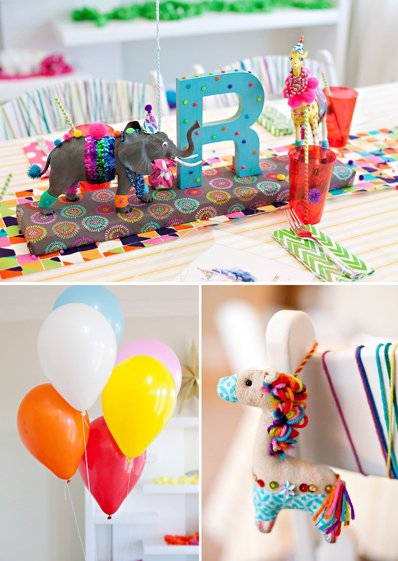 Wild Child Birthday Kids Table and Balloons