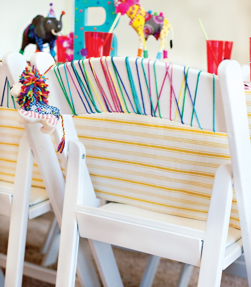 Yarn Wrapped Chairs