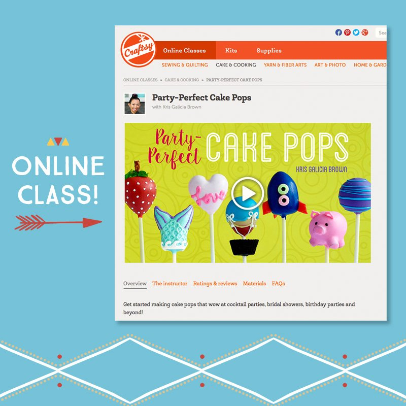 Online Cake Pop Class by Kris Galicia Brown