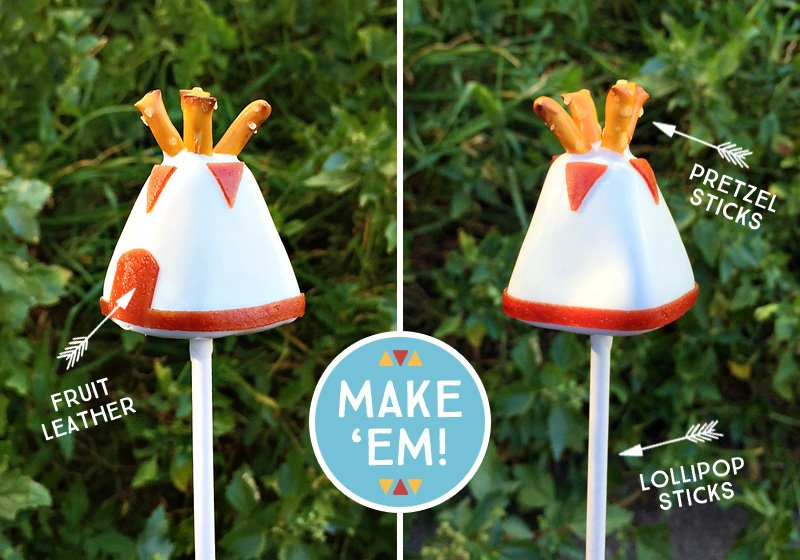 DIY Teepee Cake Pops Tutorial