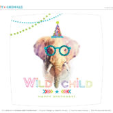 Printable Party Animal Plate Liner - Elephant